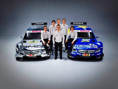 Alineación de pilotos de Mercedes para el DTM 2013, con Dani Juncadella y Gary Paffet entre ellos