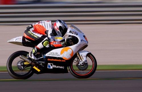 Jorge Navarro (Cuna de Campeones) durante el Gran Premio de la Comunitat Valenciana de Moto3 en Cheste