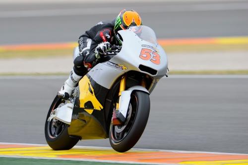 Tito Rabat en los tests de pretemporada de Moto2 2014