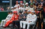 Foto oficial de los pilotos de Fórmula 1 en 2014