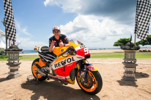 Marc Márquez el día de la presentación de la Honda RC213V para 2015