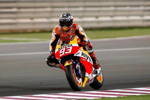 Marc Márquez (Honda) en los tests de MotoGP en Qatar